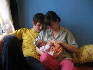 Ela s rodinou