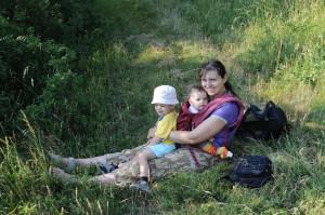 Lenka Trochová s dětmi