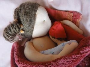 Eva s miminkem