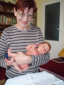 Ivana s miminkem