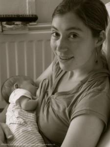 Magdalenka s miminkem