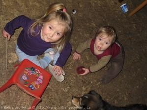 Děti se psem