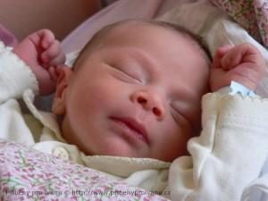 Péťa - v porodnici
