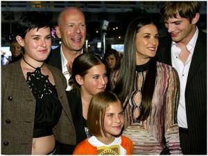 Demi Moore s rodinou