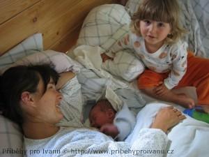 Vítek ráno po narození